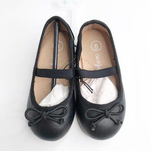 NWT Cat & Jack Black Ballet Flats Toddler Girls